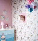 Arthouse Rainbow Unicorn Wallpaper White Feature Wall 696109