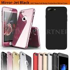 Upgrade 360° Mirror Plating Metal Hard Slim Tempered Glass Case For iPhone 5 6 7
