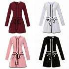 New Long Sleeve Round Collar Fashion Ladies Loose Cotton Europe Dress Knit