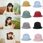 Sun hat Casual Hot Cap Hats Fashion Girls Black Solid Color Basin Cap AB