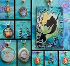 ARIEL LITTLE MERMAID EARRINGS CHARM NECKLACE PENDANT LOCKET HANDMADE DOME
