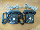 2 Black Rotary Desk Phones Western Electric