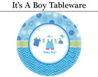 Blue It's a Boy Tableware - Plates, Napkins, Cups & Tablecover