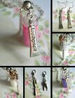 A GIFT FROM THE TOOTH FAIRY CLIP ON CHARM OR GLITTER BOTTLE NECKLACE EARRINGS