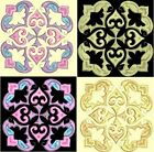Anemone Quilt Squares 5-DESIGN 2-an Anemone Machine Embroidery single in 4 sizes