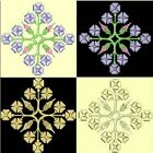 Anemone Quilt Squares 1-DESIGN 9-an Anemone Machine Embroidery single in 4 sizes