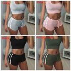 2Pcs Sexy Women Seamless Underwear Yoga Vest Jogging GYM Suit Exercise Shorts