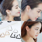 2 Pairs Lady Triangular Design Geometric Opening Earrings Jewelry