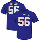 Lawrence Taylor 56 New York Giants Jersey Style T Shirt Hall Of Fame Navy NFL