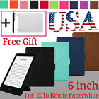 Magnetic Leather Smart Case Stand Cover For Amazon Kindle Paperwhite 2016 6 inch