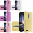 For ZTE Carry Zmax Pro Hybrid Clear PC TPU with Glitter Paper Protective Case