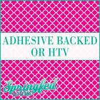Pink & White Quatrefoil Pattern Adhesive Craft Vinyl or HTV for Shirts!
