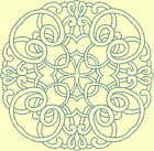 CELTIC QUILT CIRCLE SINGLES -Design 1- from Anemone Machine Embroidery-4 SIZES
