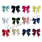 25mm Large Satin Ribbon Double Bows - Choose Pack Size and Colour Free P&P