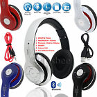 Foldable Wireless Bluetooth 4.1 Headset Stereo Headphone Built In Mic Call Radio