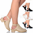 WOMENS LADIES MID BLOCK HEEL PEEP TOE CUT OUT SUMMER ANKLE BOOTS SANDALS SIZE