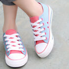 Fashion Womens Canvas Lace up Leisure School Shoes Casual Walking Platform Shoes