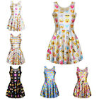 Hot Fashion Women Ladies 3D Classic Emoji Patchwork Print Dress 6 Styles LAUS