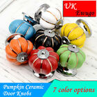 1~4X Vintage Ceramic Pumpkin Snail Shaped Round Drawer Knobs Door Handles Knobs