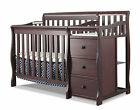 Sorelle Newport 2-in-1 Convertible Mini Crib & Changer