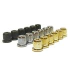 Set of six guitar string ferrules bush's in chrome black or gold