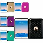 For Apple iPad Mini 4 Hybrid Fish Scale Studded Diamond Back Case Cover