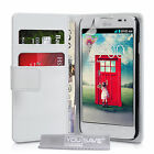 Yousave Accessories PU Leather Wallet Flip Folio Phone Cover Case For The LG L70