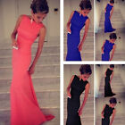 Full-Length Sleeveless Bandage Gown Prom Dress For Women Wedding Evening Party