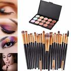Pro 15 Colors Contour Face Cream Makeup Concealer Palette Make Up Brush Set Tool