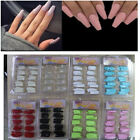 100 Pcs Half Cover False Nail Tips Long Ballerina Coffin Nails DIY Eight Colors