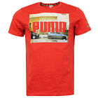 Puma Graphic Short Sleeve Sleeved T-Shirt Tee Top Red Mens 566848 12 R8