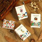 52pcs/bag DIY Mini Cute Sticker Retro Sticky Paper for Scrapbooking Decor TBCA