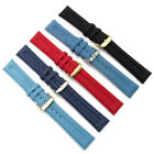 Apollo Tough Ribbed Textile Watch Band 18mm 20mm Choice of Color Free Pins