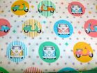 CAMPERVANS AND MOPEDS - VISAGE- 100% COTTON FABRIC
