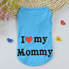 Pet Dog Puppy Summer Cotton Clothes I Love My Mommy Vest T-Shirts Apparel