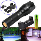 Ultrafire 10000LM Zoomable 5 Modes Tactical LED Flashlight + 18650 +Charger+Clip