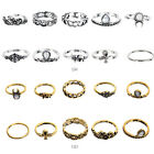 10PC/Set Women Punk Vintage Knuckle Midi Rings Tribal Ethnic Hippie Joint Ring