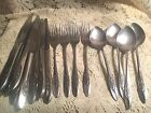 Oneida 1881 Rogers Stainless Spring Valley 17  Pieces Knives Forks Spoons