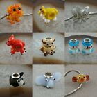 DIY Animal Loose Beads Elephant/Fox Spacer Charms Jewelry Finding Black/Blue/Red