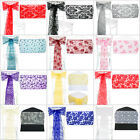 10pcs Flocked Organza Sashes Chair Cover Bow Sash FULLER BOWS Wedding Party