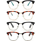 Clubmaster Retro Style Plastic Reading Glasses Men's Women's Black Tortoise