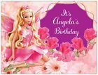 20 30 50 BARBIE Princess Fairy Flowers Birthday PARTY Personalized Invitation