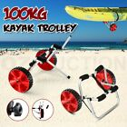 Kayak Trolley Foldable Canoe Aluminum Collapsible Wheel Cart Boat Carrier Ski