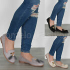 WOMENS LADIES FLAT FUR TASSEL WORK SMART CASUAL BALLERINA LOAFER DOLLY SHOES