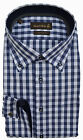 JACQUES BRITT - HEMD BOSTON MIX - BUTTON DOWN - BLAU Weiß kariert - 39 40 41 42