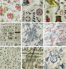 Printed Cotton Canvas Fabric for Upholstery Soft Furnishing Curtains Crafts Bags
