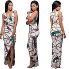Sexy Womens Print Bandage Bodycon Dress Club Party Cocktail Long Maxi Dresses