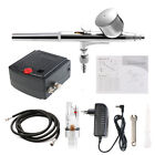 Dual-Action Precision AIRBRUSH AIR COMPRESSOR SET Craft Cake Hobby Paint KIT