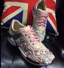 Fashion Women's Running Casual Lace Up Flowers Mesh Athletic Sneakers Shoes