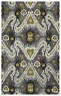 Rizzy Rugs Gray Ikat Curves Lines Petals Contemporary Area Rug Floral VO5087